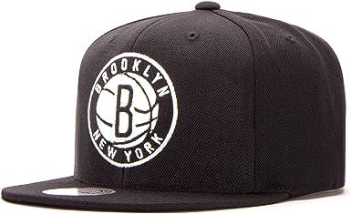Gorras Brooklyn Nets Wool Solid Black Snapback - Mitchell & Ness ...