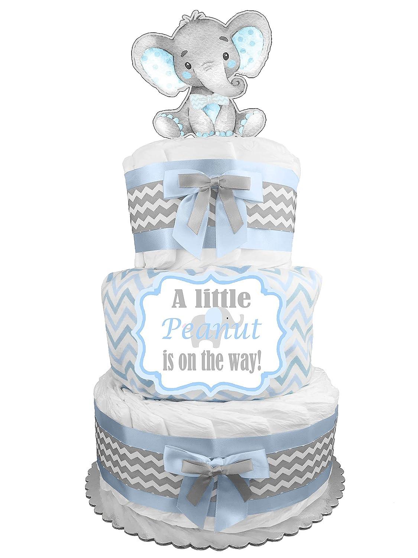 Amazon.com: Pañal Pastel para un niño – Azul TEDDY BEAR Baby ...