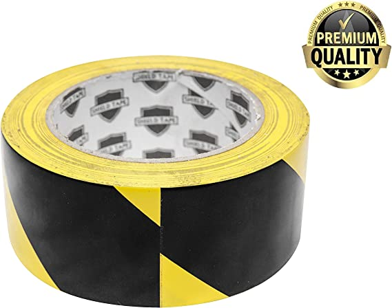 """Walk Ways Parking Lots ABC Aisle Marking Tape 3/"""" x 36/' White Tape Natural Rubber Adhesive. 1 Roll of Hazard Warning Tape 7 Mil Thick Flexible Black Pillars Vinyl Tape for Making Steps"""