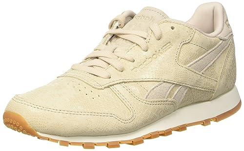 Reebok Cl LTHR Clean Exotics, Chaussures de Running Femme