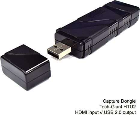 freneci Tarjeta De Video HDMI Dongle USB2.0 Adaptador 4k HD con Salida De Bucle HDMI