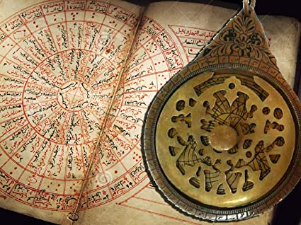Antique Brass Arabic Astrolabe Vintage islamic Navigation Astrological Calendar