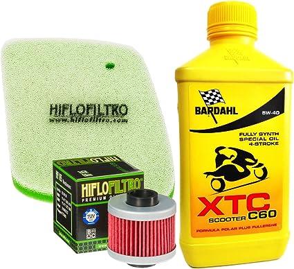 Kit Tagliando Bardahl XTC Scooter 5 W40 Filtro Aceite Aire Aprilia Leonardo 125/150: Amazon.es: Coche y moto