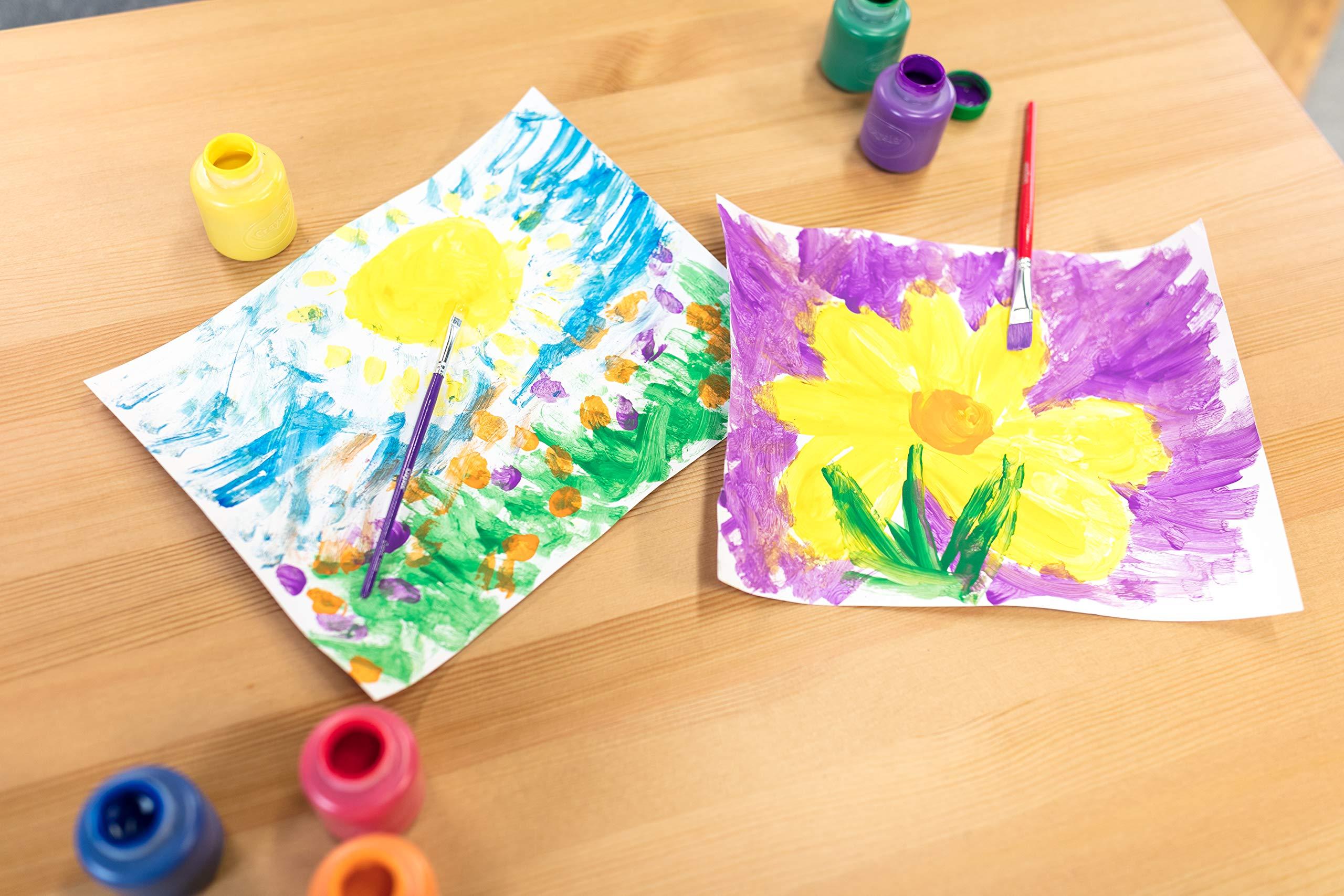 Pack of 4 Multi Crayola Washable Ready Mix Kids Paint