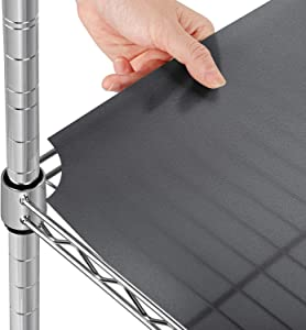 Glotoch Heavy Duty Premium 14 x 30 Inch Frosted Grey Shelf Liners, Set of 5, Waterproof, Plastic Liner for Wired Metal Rack Shelving and Cabinets Shelves, Kitchen