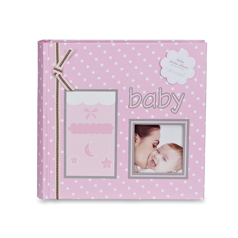 Photo album my babies dream - Fotoalbum Baby`s Traum - pink/rosa, Fotoalbum mit Einsteckhülle für 200 Fotos Babuqee 999221