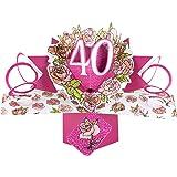 Suki Gifts International Pop Up Card Happy Birthday 40, Multi-Colour