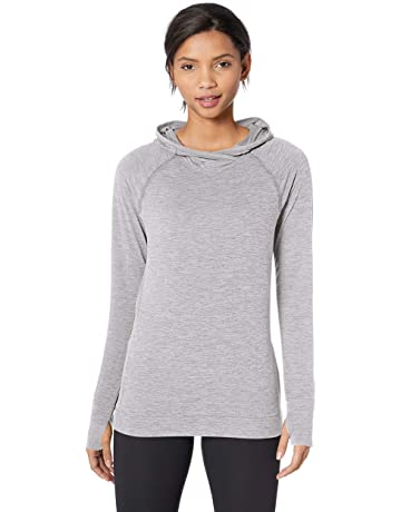 84ab81dbea11 Amazon Essentials Women s Brushed Tech Stretch Popover Hoodie