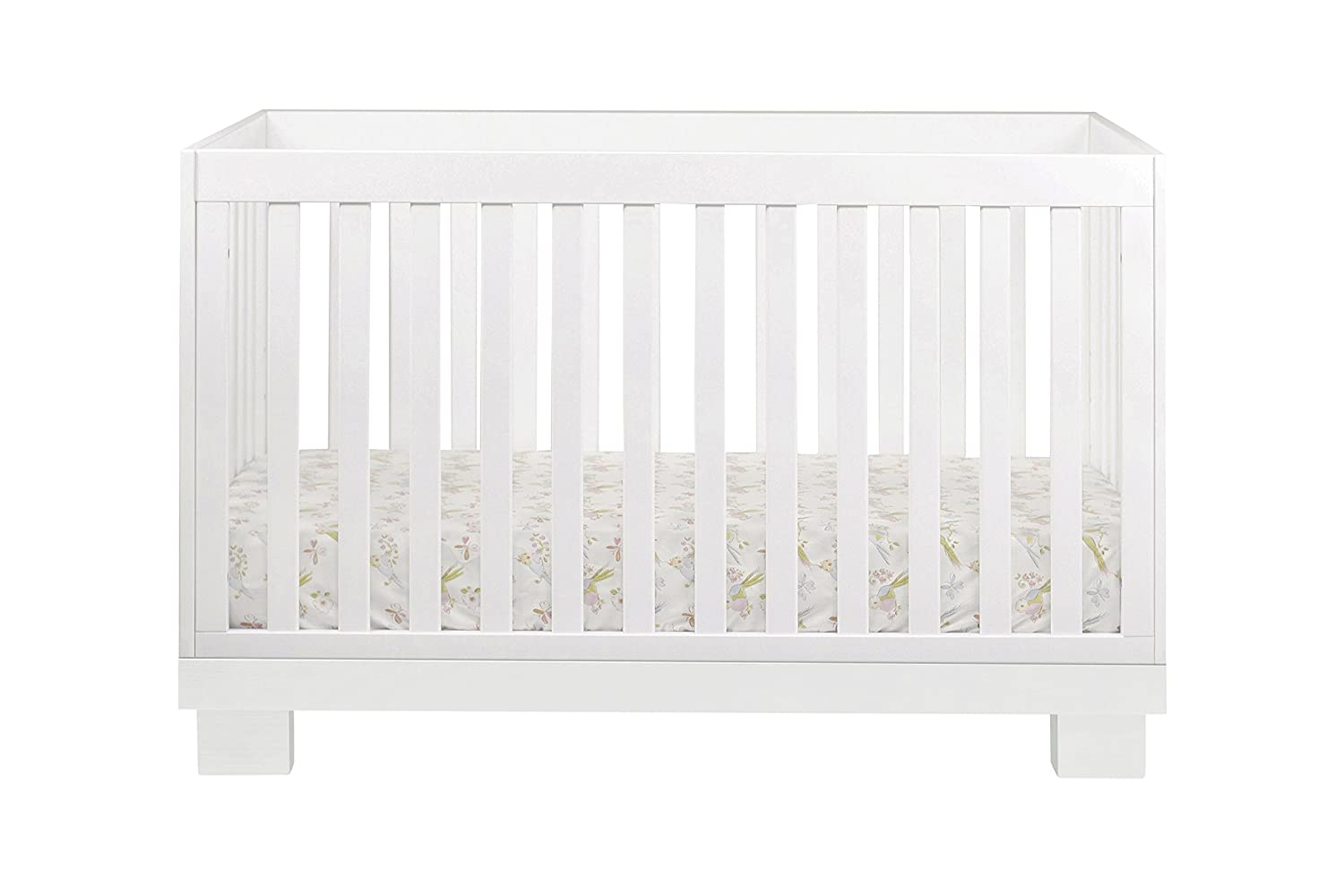 amazoncom babyletto modo 3in1 convertible crib with toddler rail white baby - White Baby Crib