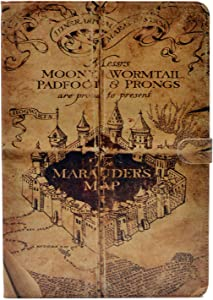 YHB Case for New iPad 10.2 2019 (10.2 inch), Marauder's Map Vintage Pattern Leather Flip Stand Case Cover for iPad 7th Generation 10.2 Inch 2019