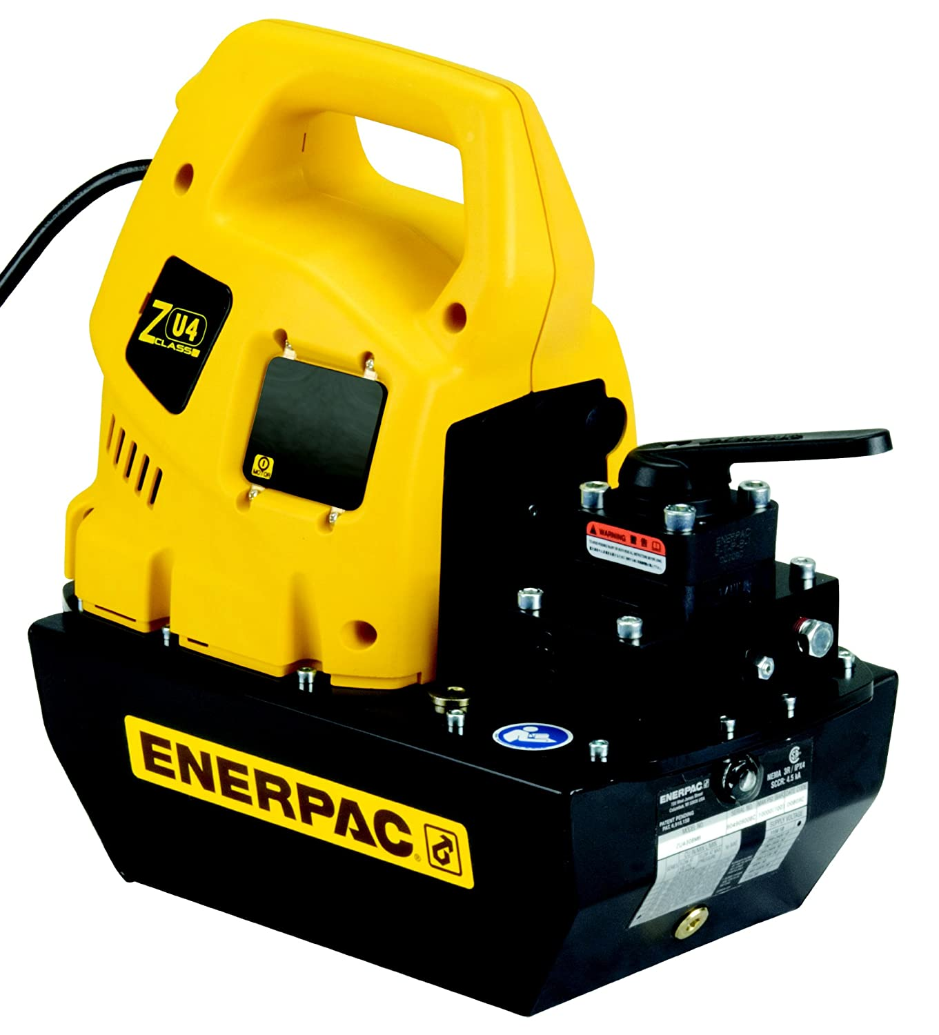 Enerpac ZU4208MB Universal Electric Pump with VM32 Manual Valve Standard 115V and 8 L Usable Oil Capacity