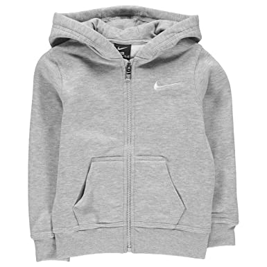 7f9ca1387e12 Nike Boys Full Zip Hoodie Team Club Sweatshirt Light Grey 3 To 4 Years   Amazon.co.uk  Clothing