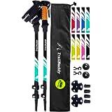 TrailBuddy Trekking Poles - 2-pc Pack Adjustable Hiking or Walking Sticks - Strong, Lightweight Aluminum 7075 - Quick…