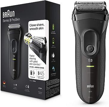 Braun Series 3 Proskin 3020s Afeitadora Eléctrica Hombre Afeitadora Barba Inalámbrica Y Recargable Máquina De Afeitar Para Hombre Negro Braun Amazon Es Salud Y Cuidado Personal