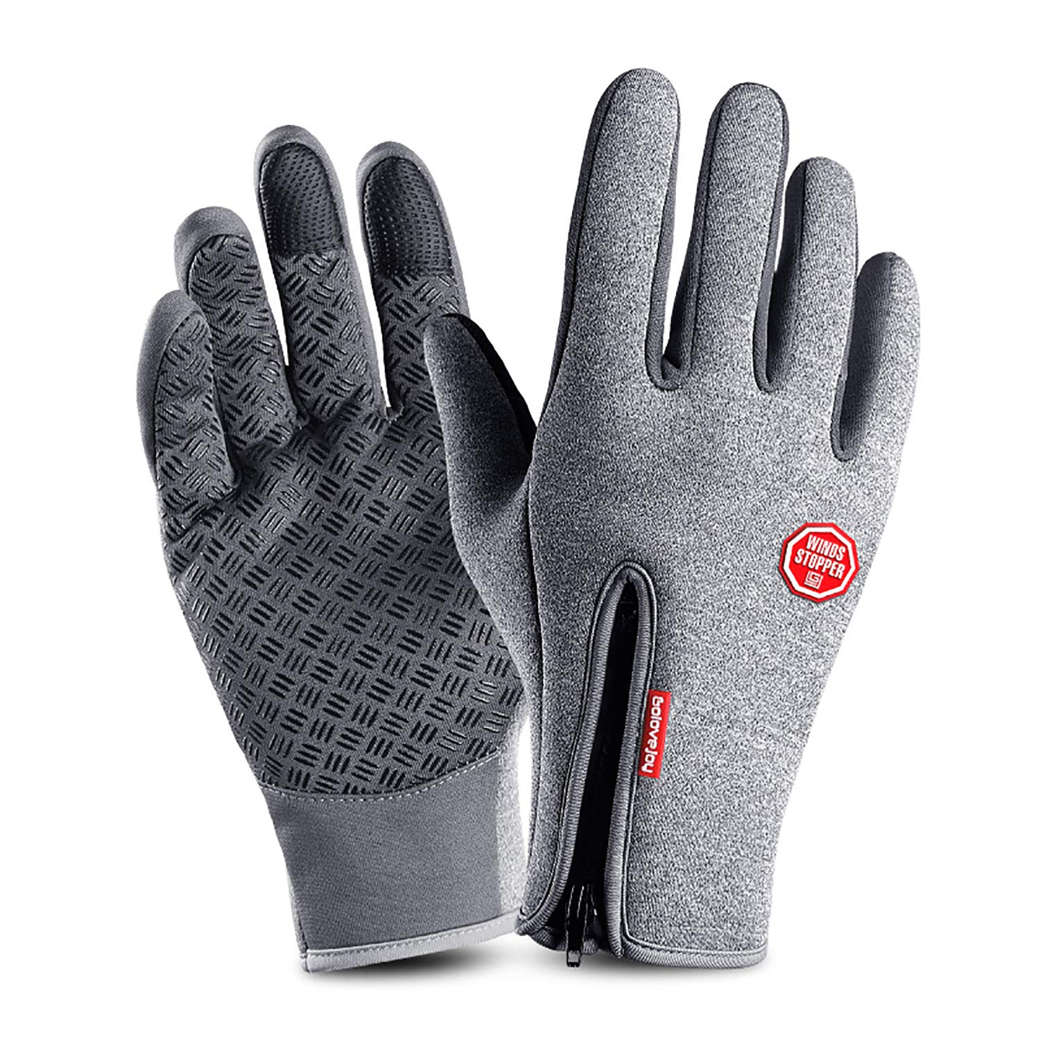 June Sports Cycling Gloves, Windproof Touchscreen Glove Anti-Slip Silicone Winter Outdoor Bike Gloves Cold Weather Driving Warm Thermal Gloves GL2