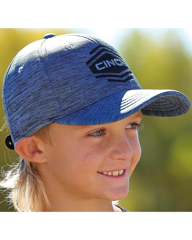 Cinch Boys' Space Dyed Logo Snap Back Baseball Cap Blue One Size