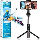 Power Theory Bluetooth Selfiepinne stativ med fjärrkontroll - Selfiestick för Samsung Galaxy S20 S10 S9 S8 S7 och iPhone…