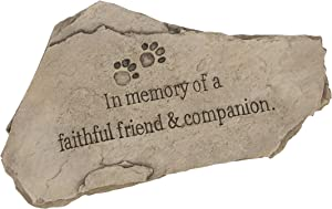 "Evergreen Garden Tiny Paws Pet Memorial Polystone Stepping Stone - 15""W x 9""H"