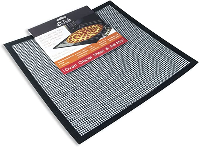 Cooks Innovations Non Stick Oven Crisper Sheets 2 Pack Also Use On Grill Each 14 5 X14 5 Baking Mats Kitchen Dining