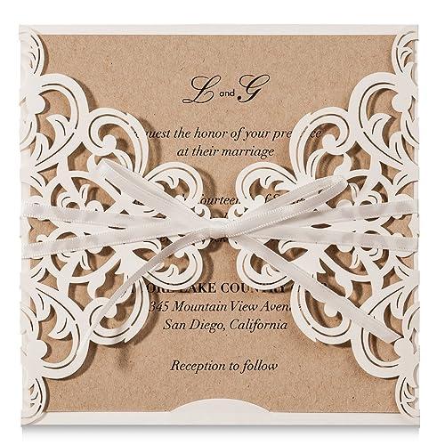 Do It Yourself Wedding Invitations Templates: Wedding Invitation Kits Do It Yourself: Amazon.com