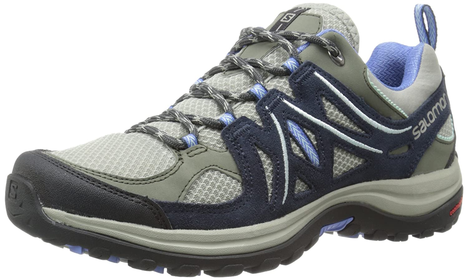 Salomon Women's Ellipse 2 Aero W Hiking Shoe B00ZLMUHKU 9 B(M) US|Titanium/Deep Blue/Petunia Blue