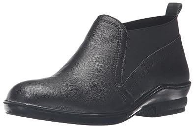 David Tate Womens Naya Casual Booties Black Leather