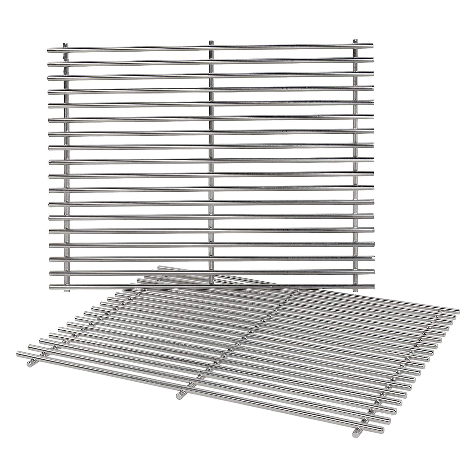 QuliMetal 7528, 304 Stainless Steel Cooking Grates (19.5 x 12.9 x 0.6) for Weber Genesis E and S Series 300 E310 E320 S310 S320 Gas Grills by QuliMetal