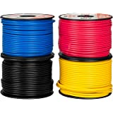 14 Gauge Primary Wire - 4 Roll Assortment Pack - 100 Ft of Copper Clad Aluminum Wire per Roll