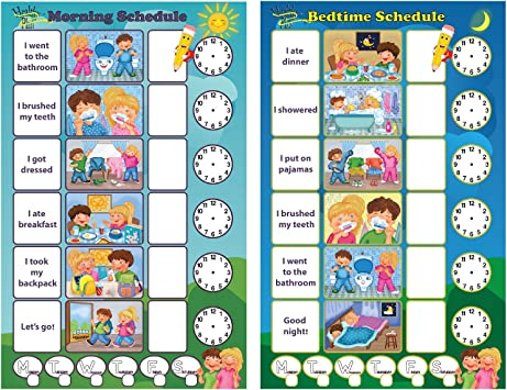 Pre-school Kid/'s Schedule Daily Routine Autism Morning and Evening visual aid dry wipe Toddlers ADHD toddler routine Whiteboard