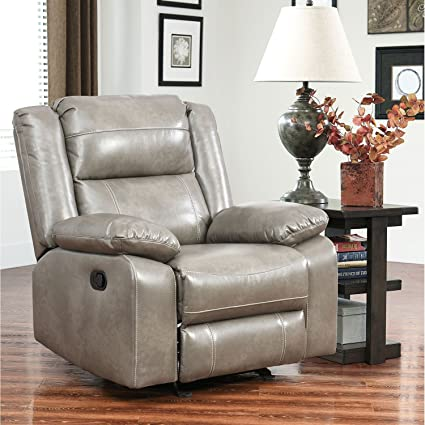 amazon com perth rocker eco friendly faux leather upholstery
