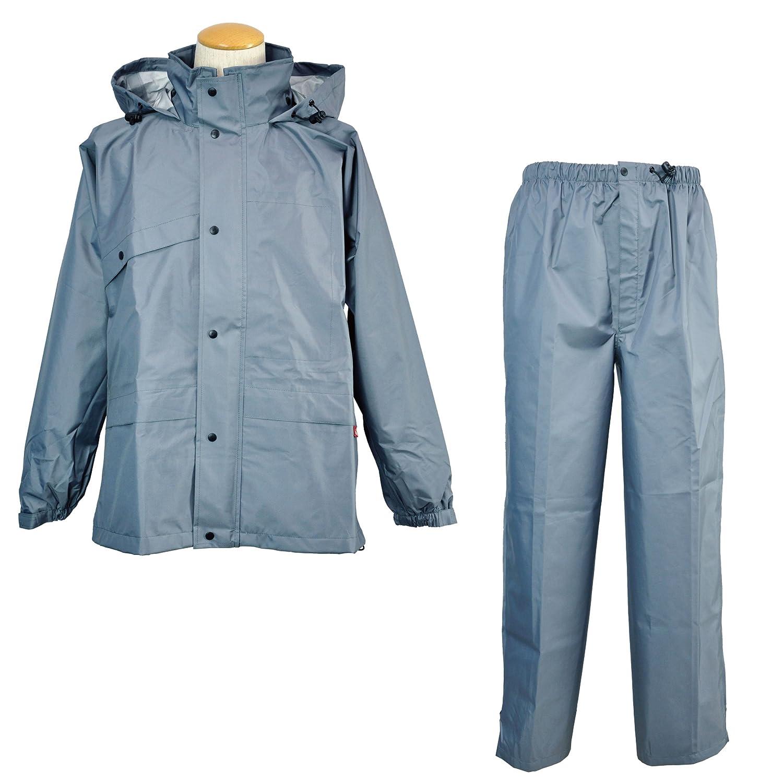 コヤナギ 【ムレないのに、濡れない。】 《防水透湿性+耐久撥水性/エントラントGⅡ》 ニューグランドスラムレイン #8200 B00KKM1WFA LL|グレー グレー LL