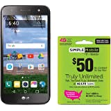 Simple Mobile LG Fiesta 4G LTE Prepaid Smartphone with Free $50 Unlimited Bundle