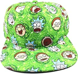 251be55dca7 ... Multi Face Expressions All Over Print Snapback Hat Black. 5.0 out of 5  stars3. Adult Swim Rick   Morty Sublimated Faces Slouch 5 Panel Snapback