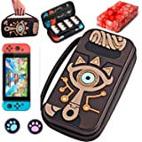 Carrying Case for Nintendo Switch,Switch Zelda Carrying Case,Sheikah Slate Silicone Embossed Case with Screen Protector…