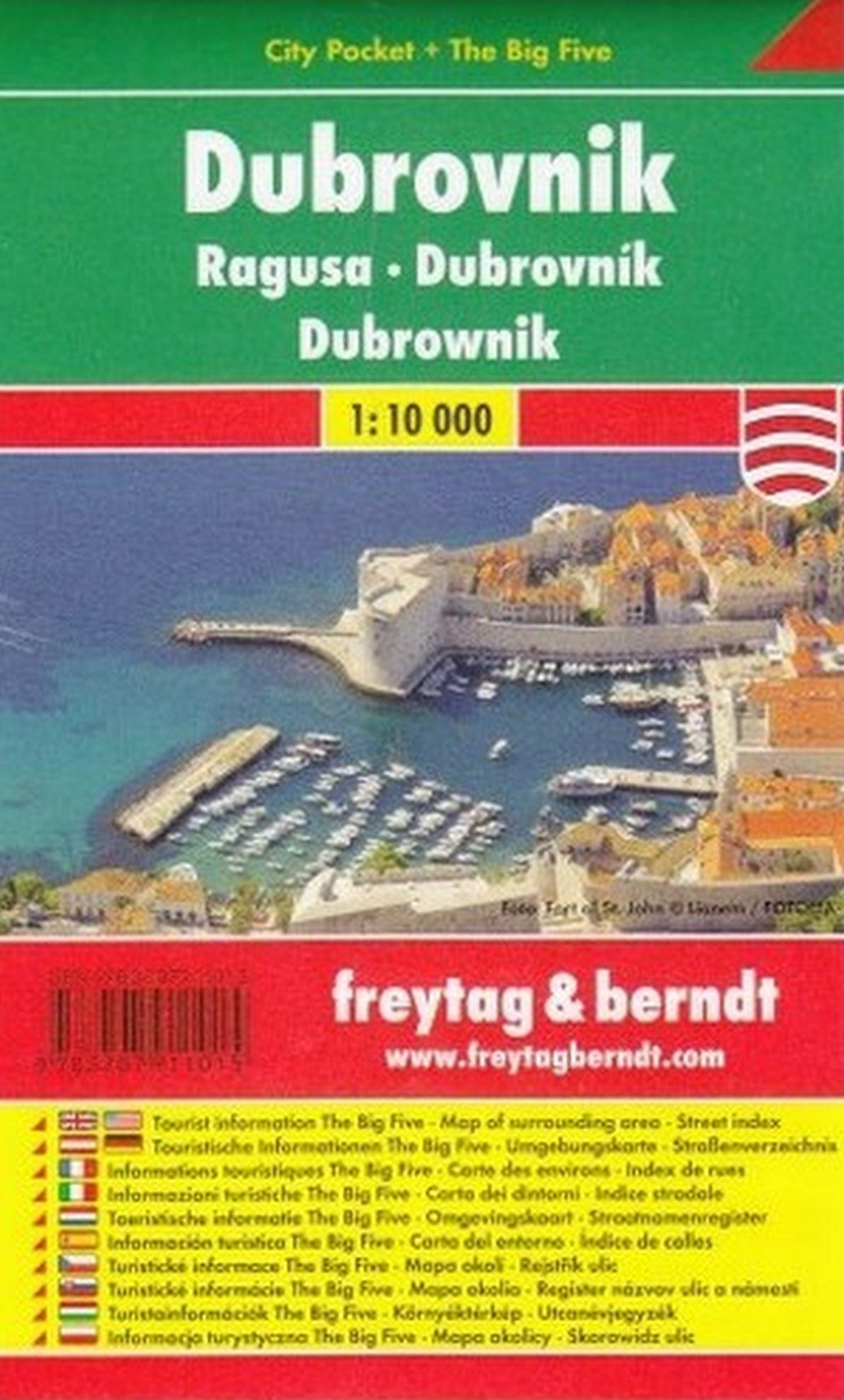 Freytag Berndt Stadtpläne, Dubrovnik, City Pocket + The Big Five - Maßstab 1:10.000