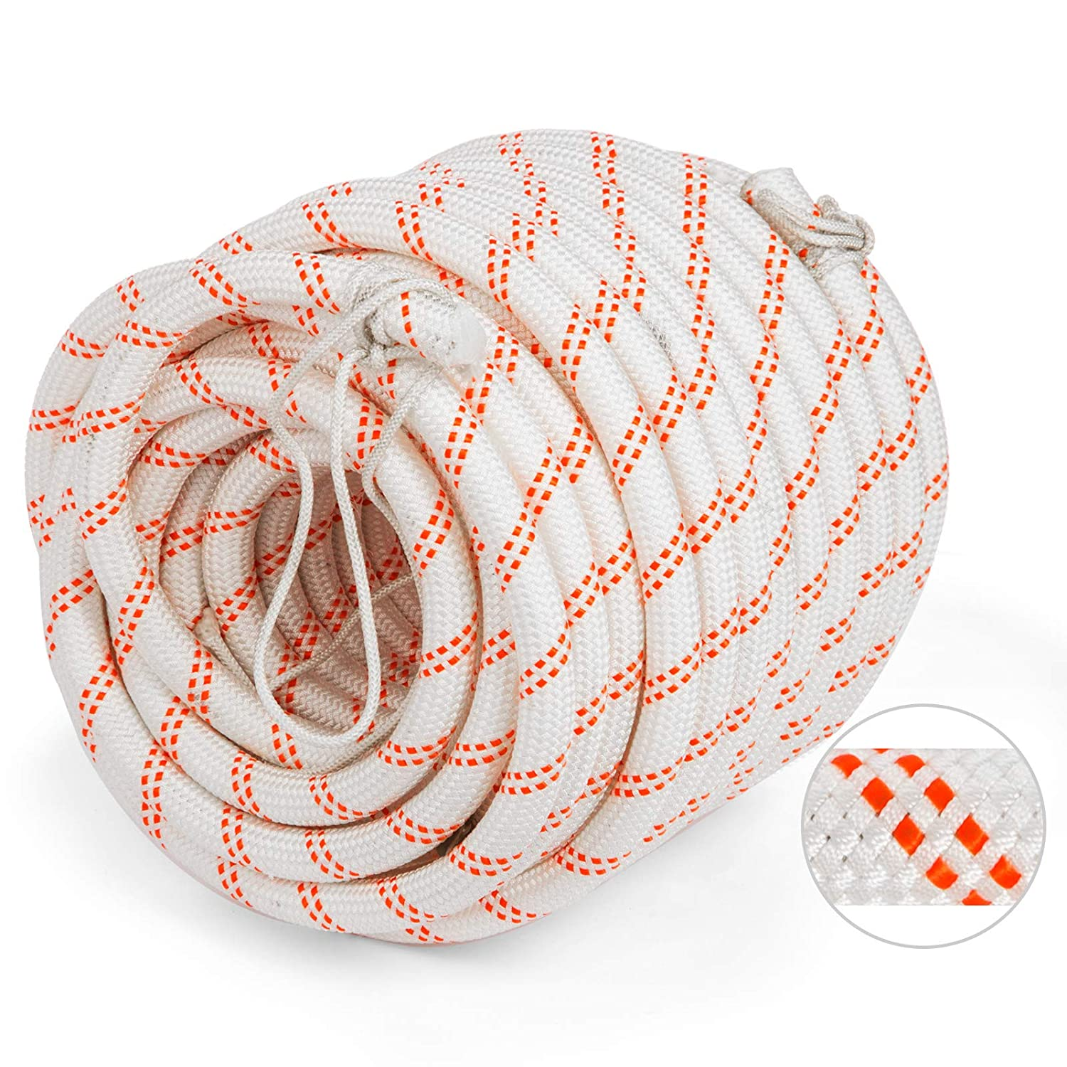 1//2 Inch-150Feet Mophorn 1//2 Inch Double Braid Polyester Rope 150 Feet Nylon Pulling Rope 880LB High Force Polyester Load Sailing Rope for Arborist Gardening Marine