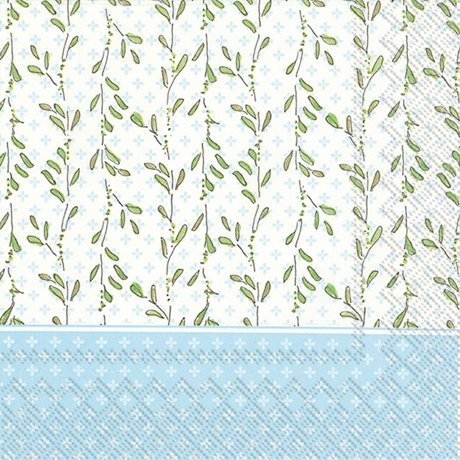 Ideal Home Range L707649 Rosanne Beck 20 Count Paper Luncheon Napkins, Blue Baby Carriage