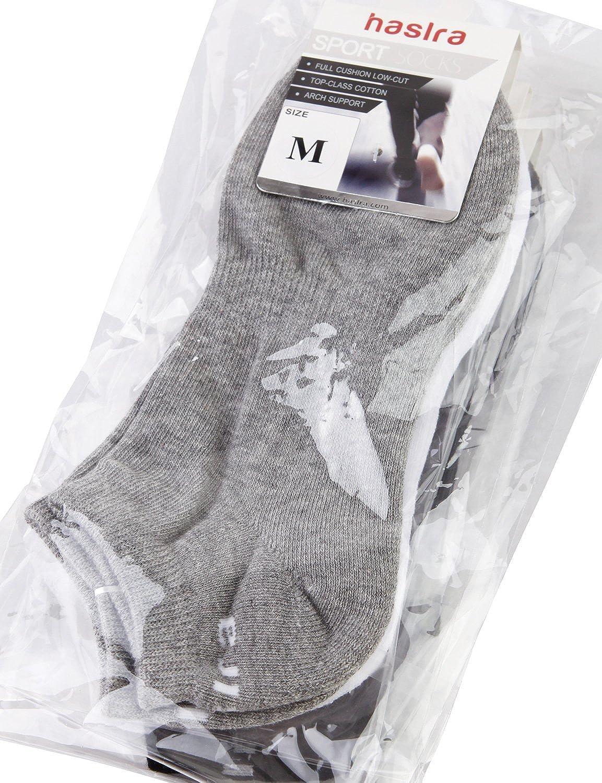 HASLRA Low Cut Full-Cushion Comfort Running Socks 3-6 Pairs