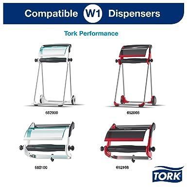 255m x 25,8cm 1 bobine Blanc Tork 130042 Papier dessuyage multi-usages Premium compatible avec les syst/èmes W1 et W2 // 2 plis