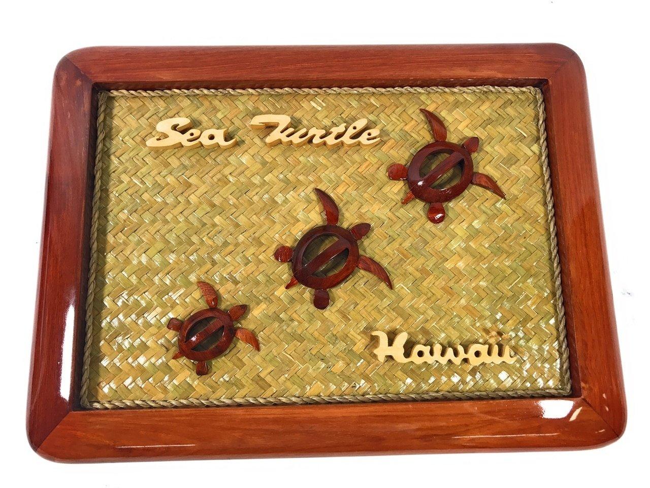 TikiMaster Elegant Frame w/Sea Turtles 15'' X 11'' - Mango Wood | #rpcframe4