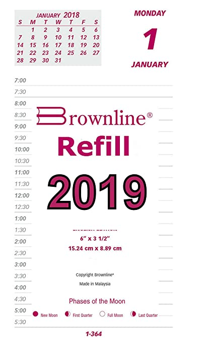 brownline c2r os 2019 for year 2019 refill jumbo calendar pad 6 x