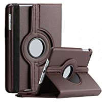 Blackpoll 360 Degree Rotating Leather Cover Stand for Apple iPad 2/3/4 (Brown)