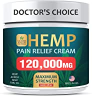 Pain Relief Cream - Maximum Strength, 120,000 MG - Fast Relief from Pain, Ache, Arthritis & Inflammation - Made & 3rd Party L