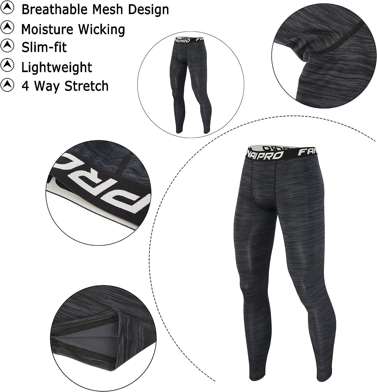 Barrageon Pantalones Largos Tight de Comprensión para Hombre ...