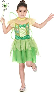 Disfraz hada verde niña - 7 - 9 años: Amazon.es: Juguetes y juegos