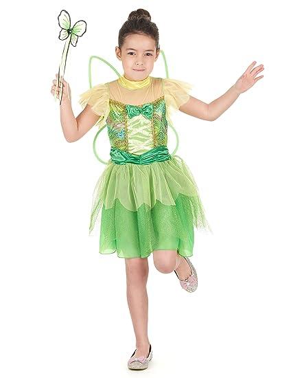 Disfraz hada verde niña - 7 - 9 años: Amazon.es: Juguetes y ...