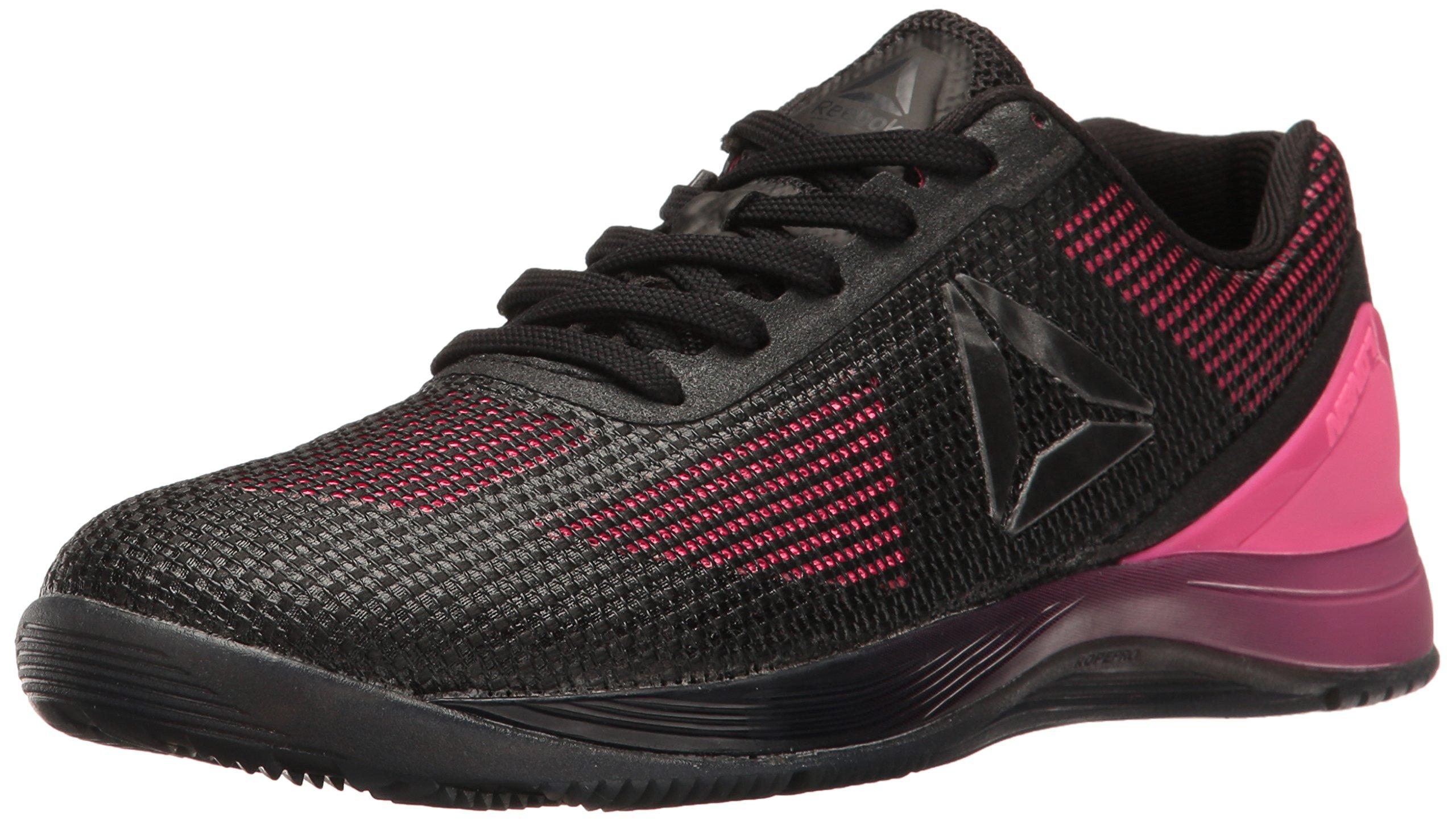 Reebok Women's Crossfit Nano 7.0 Cross-Trainer Shoe, Solar Pink/Black/Lead/White, 7.5 M US
