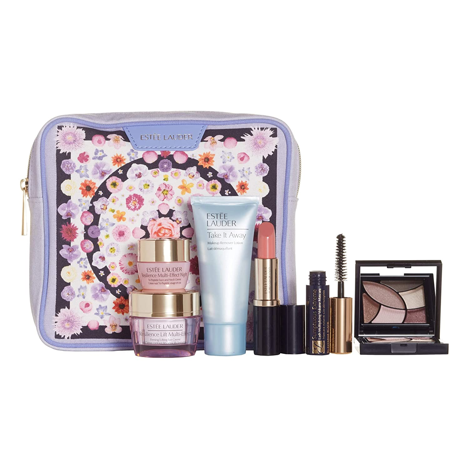 Estee Lauder 2019 7pcs Resilience Multi-Effect Skincare Makeup Gift Set $170+ Value