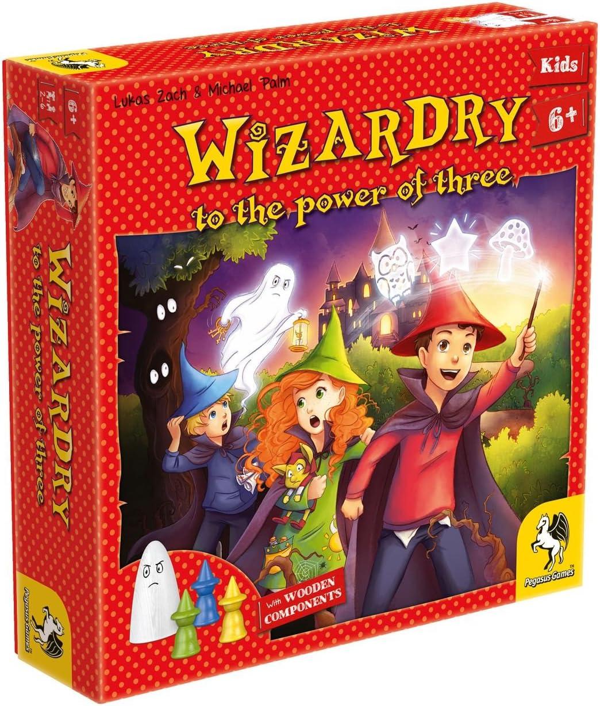 Pegasus Spiele 66013E Wizardry to The Power of Three - Juego de Mesa (Contenido en alemán): Amazon.es: Juguetes y juegos