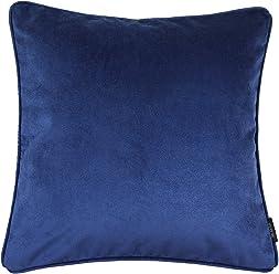 "McAlister Plush Matt Velvet 18"" Decor Pillow Cover | Navy Blue 18x18 Throw Cushion Case | Classic Modern Accent"